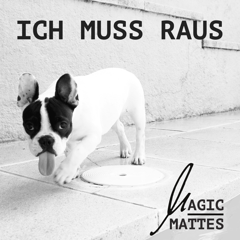 """Single-Cover für den Titel """"Ich muss raus"""" von Magic Mattes."""
